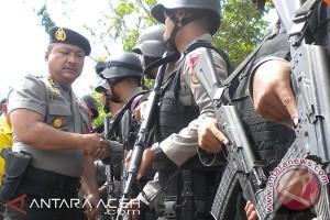 1.446 Brimob BKO dipulangkan dari Aceh