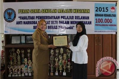 BNNK Aceh Selatan Tes Urine Siswa SMA/Sederajat