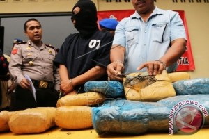 Polisi tangkap dua pengedar 25 kilogram ganja