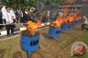 BNNP Aceh musnahkan 111 kilogram ganja