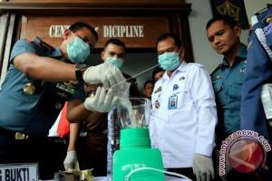 Lanal Lhokseumawe musnahkan narkoba