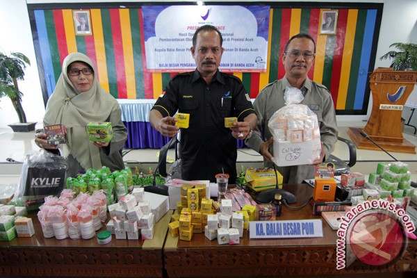 BBPOM Banda Aceh sita ribuan kosmetik ilegal