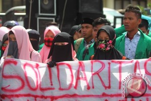 Warga Aceh Barat doa bersama untuk warga Rohingya
