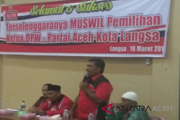 Acong Pimpin DPW Partai Aceh Kota Langsa
