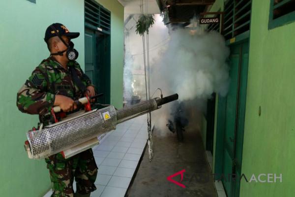 Detasemen Kesehatan Iskandar Muda lakukan fogging