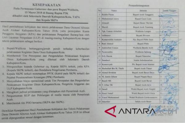 Aceh Tengah tidak kebagian dana Otsus 2018