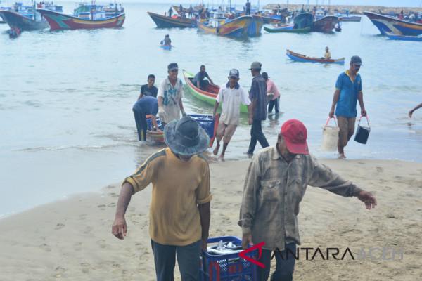 Nelayan Lhokseumawe tak melaut harga ikan melambung