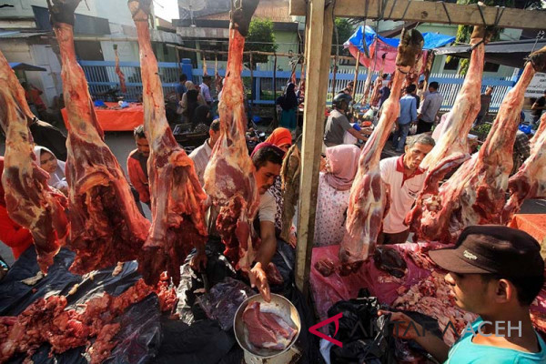 Harga daging melonjak di Lhokseumawe