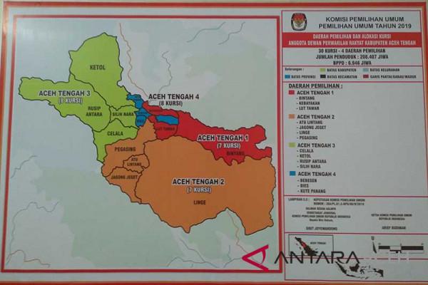 DPS di Aceh Tengah 135.690 orang