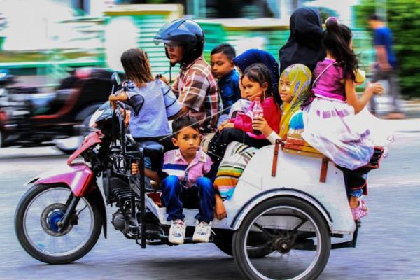 Wisata becak motor di Aceh