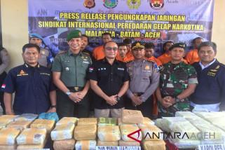 Polisi ringkus sindikat narkoba internasional
