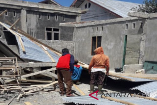 47 rumah rusak diterjang badai di Aceh Tengah