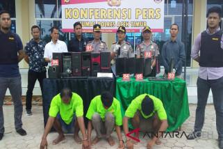 Polisi bongkar judi online di Aceh Timur