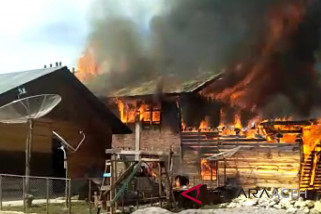 Empat rumah hangus terbakar di Aceh Tengah
