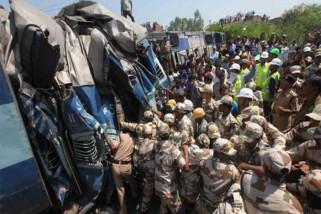 Kecelakaan KA di India 61 penumpang tewas