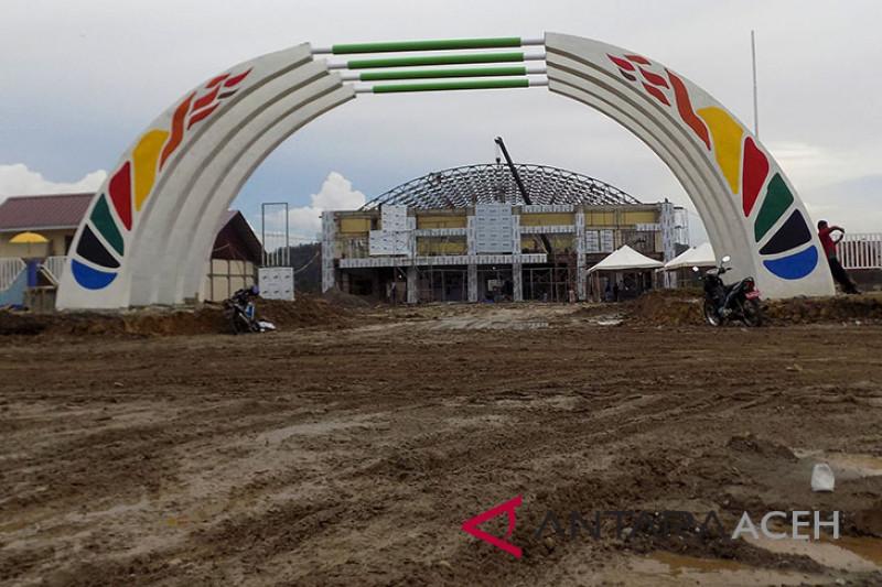 Progres pembangunan PORA di Aceh Besar