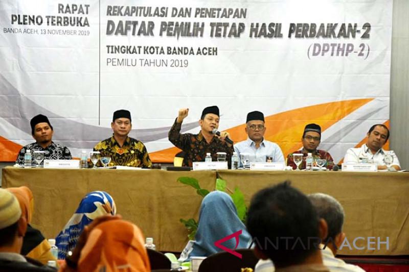 Pemilih di Banda Aceh berkurang 463 orang