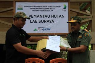 Penyerahan Pos Pemantau Hutan Lae Soraya