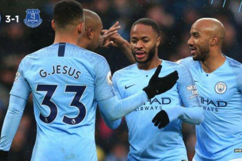 City kembali ke puncak seteah kalahkan Everton 3-1