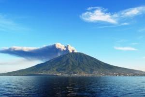 Gamalama Kembali Semburkan Abu Vulkanik
