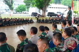 Pangdam Terima Satgas Pam Rahwan Maluku-Maluku Utara