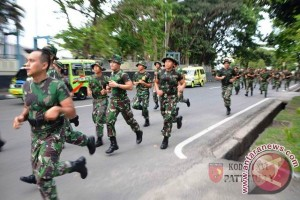 Lari Jalan Hiasi Minggu Militer Kodam Pattimura