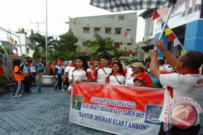 Imigrasi Gelar Jalan Santai Songsong Hari Bakti