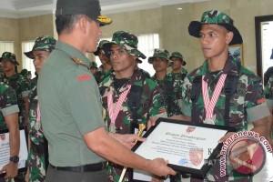 Pangdam Terima Kontingen Bela Diri Militer