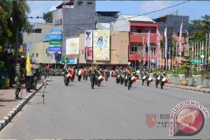 Kodam Gelar Gladi Bersih Peringatan HUT TNI