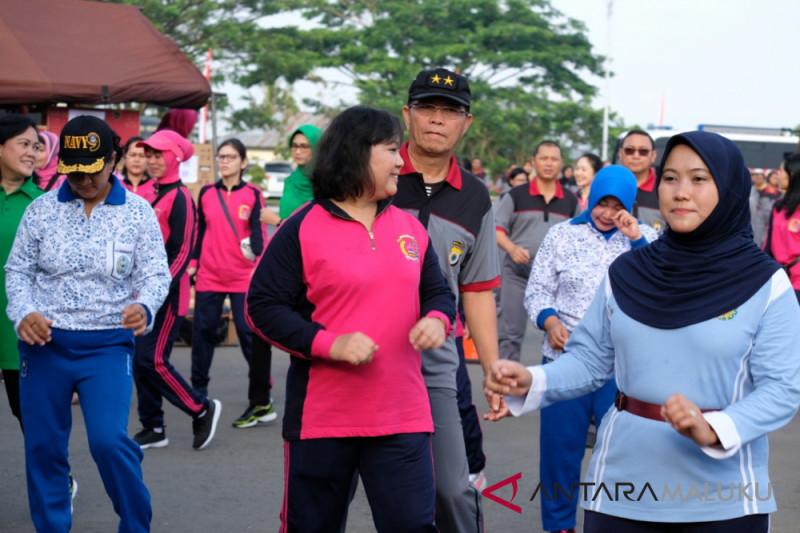 PD Bhayangkari Maluku gelar olah raga bersama