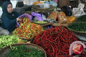 Harga Cabai di Pasar Tradisional Pangkalpinang Kembali Melonjak