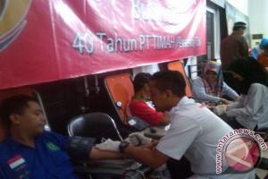 PT Timah Bantu PMI 450 Kantong Darah
