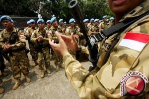Pasukan Garuda Peringati HUT RI di Sudan