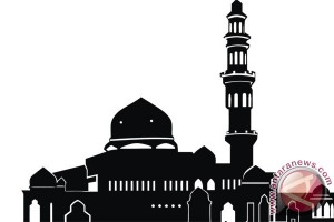 Polri-TNI Bersih Masjid Jamik Muntok