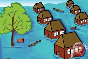 Ratusan Rumah Terendam Banjir di Padang