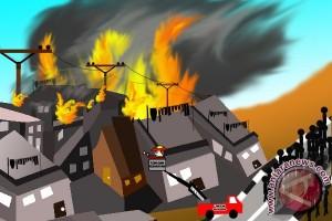Tujuh Rumah dan Toko di Pontianak Terbakar