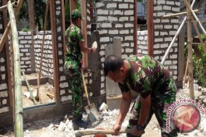 Pangkalan TNI AL Kepulauan Babel Bedah Rumah Nelayan Sadai