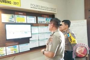 Polda Kepulauan Babel Pantau Pos Terpadu di Pelabuhan Tanjungkalian Muntok