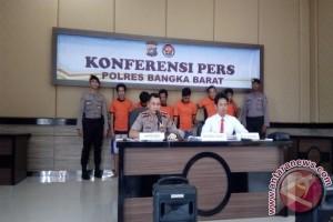 Polisi Kabupaten Bangka Barat Ringkus Enam Pengedar Narkoba
