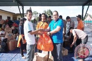 PWI Babel Salurkan Logistik Untuk Korban Banjir Belitung