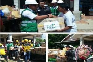 PLN Babel Salurkan Logistik Bagi Korban Banjir