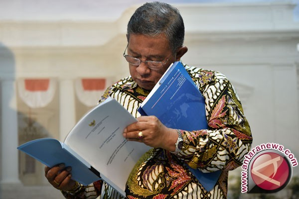Sejumlah Menteri Ekonomi Menemui Presiden