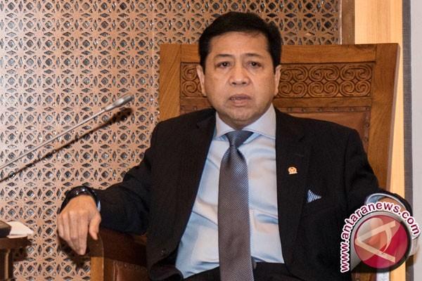 Setya Novanto Hadiri Rapim Perdana Pasca Sakit