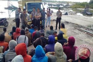 Polres Kabupaten Bangka Tengah Tindak Pelaku Penambangan Ilegal