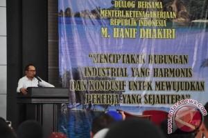 Menaker: Dialog Sosial Kunci Hubungan Industrial Harmonis