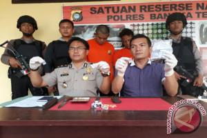 Polisi Bangka Tengah Tembak Tersangka Narkoba