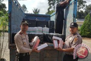 Polisi Bangka Barat Gagalkan Penyelundupan Rokok