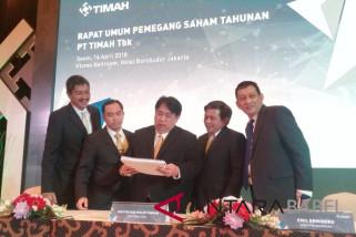 Laba bersih PT Timah Rp502 miliar pada 2017