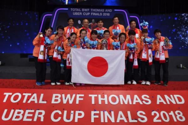 Jepang sukses raih Piala Uber 2018