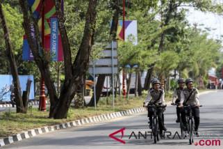 Patroli Keamanan di Jakabaring Sport City